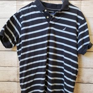 Nautica blue and light blue striped t shirt -Large